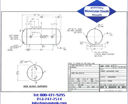 mb259b 150 psig air-water expansion tank