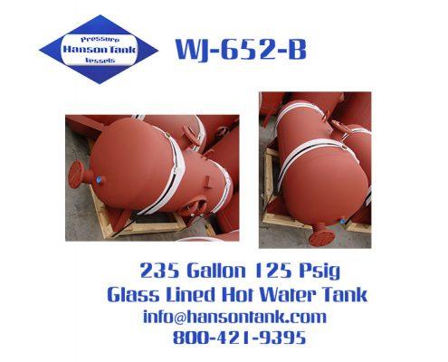wj652b 235 gallon glass lined hot water tank