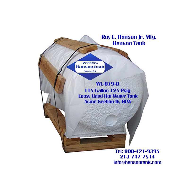 WL-879-B 115 Gallon Horizontal Hot Water Tank