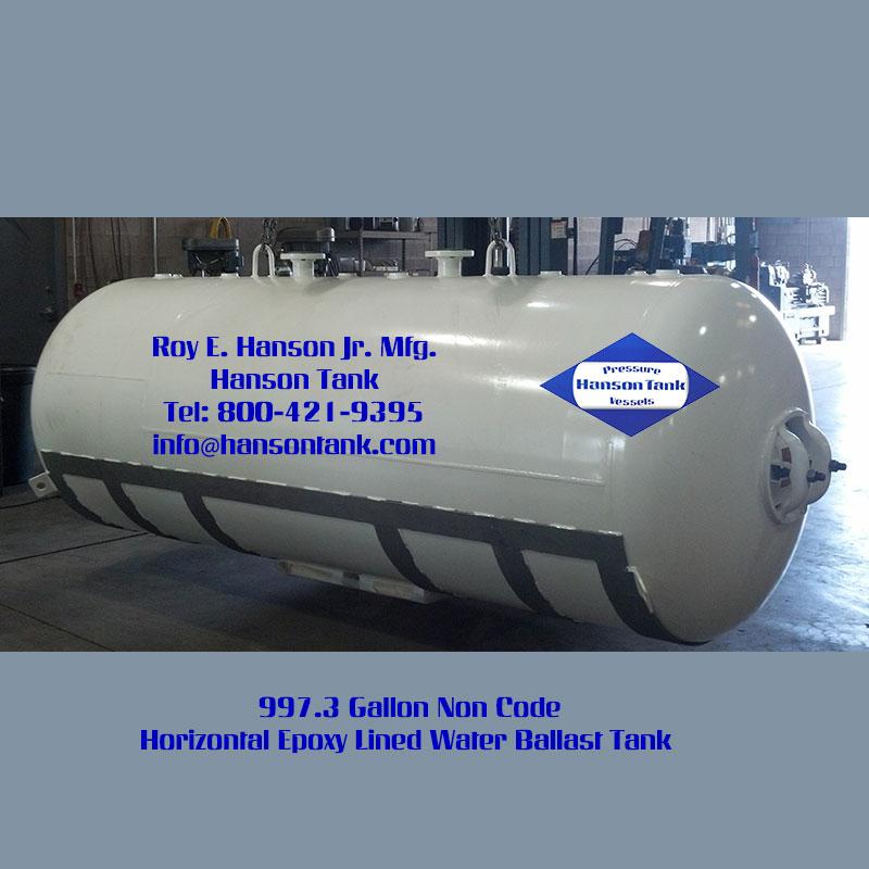WN-799-C 1000 Gallon Horizontal Custom Water Ballast Tank