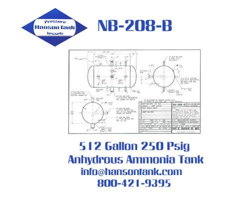 nb208b 512 gallon anhydrous ammonia tank