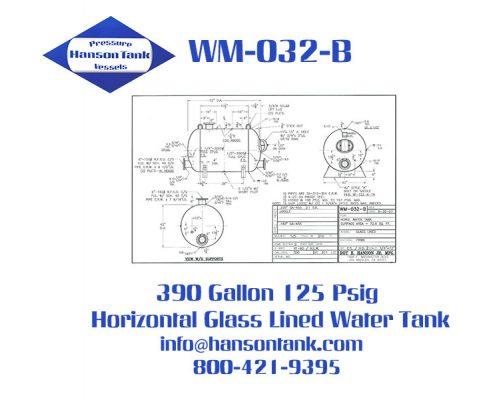 wm032b 390 gallon horizontal HLW tank