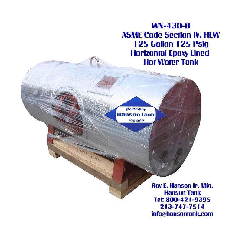 WN-430-B 125 Gallon Horizontal Water Tank