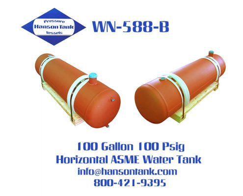 wn588b 100 gallon horizontal water tank