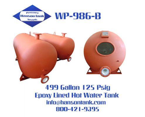 wp-986-b horizontal epoxy lined hot water tank