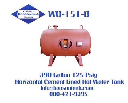 wq-151-b 390 gallon horizontal hot water tank