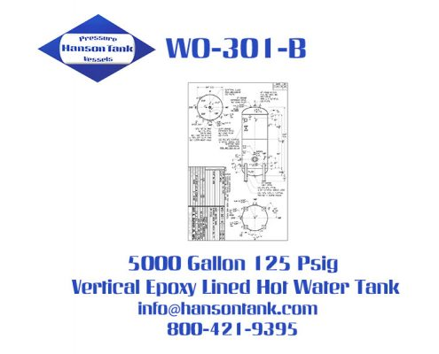 wo301b 5000 gallon vertical hot water tank