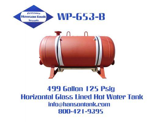 wp-653-b 500 gallon glass lined hot water tank